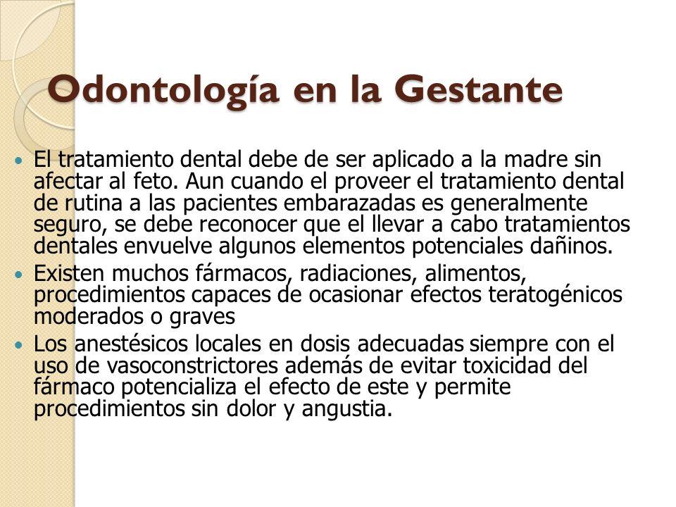Odontología en la Gestante