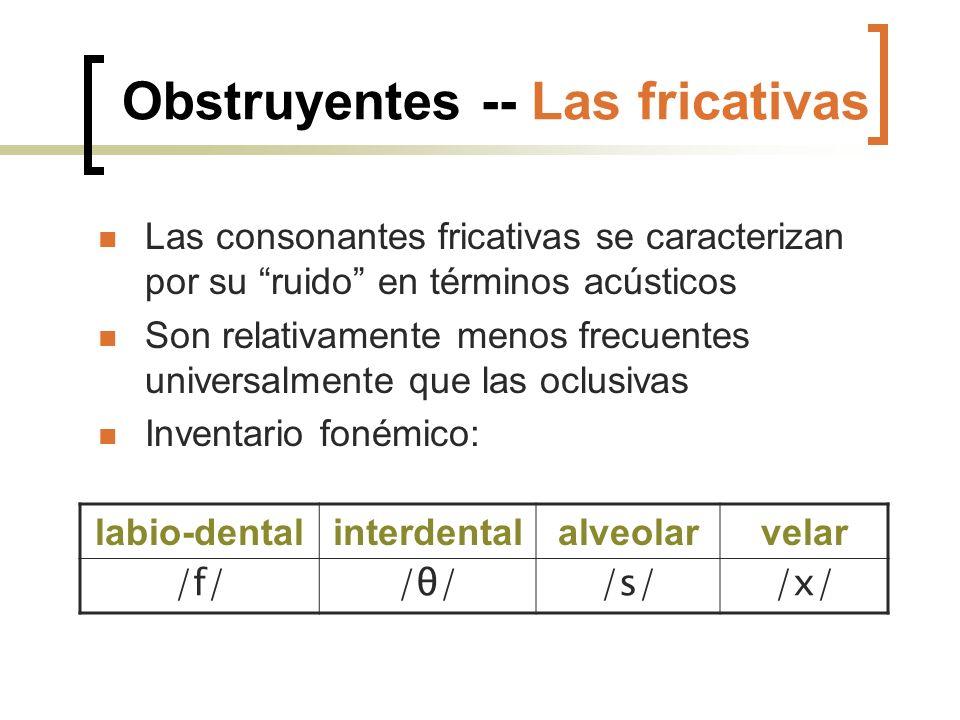 Obstruyentes -- Las fricativas