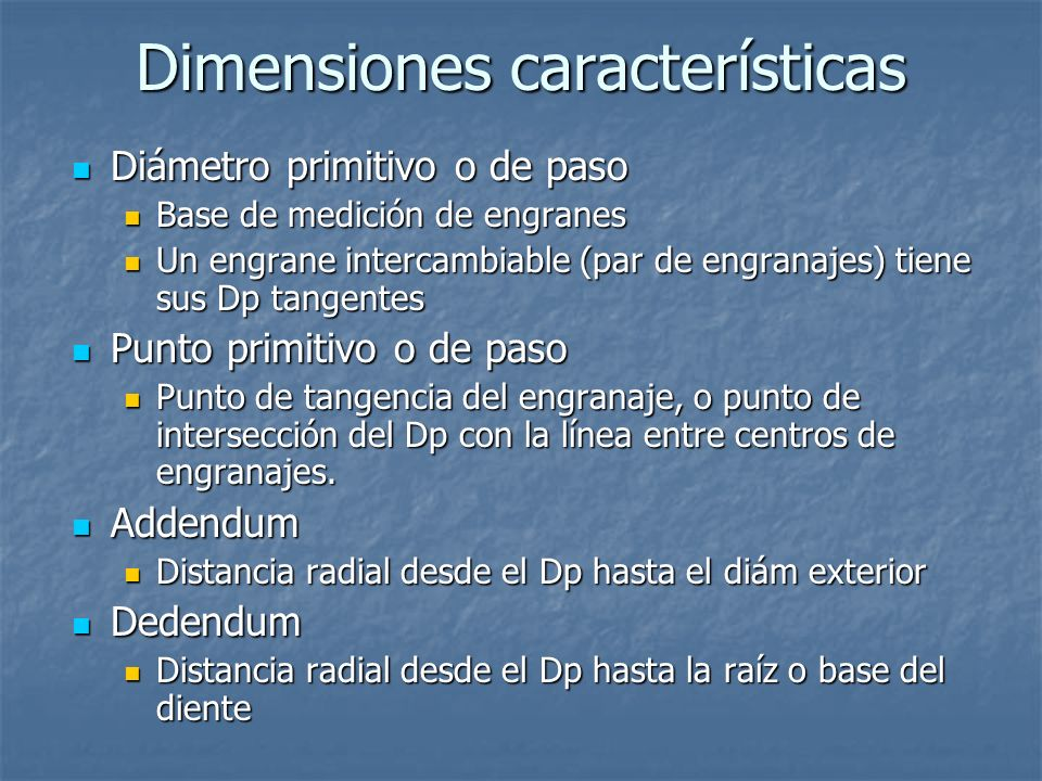 Dimensiones características