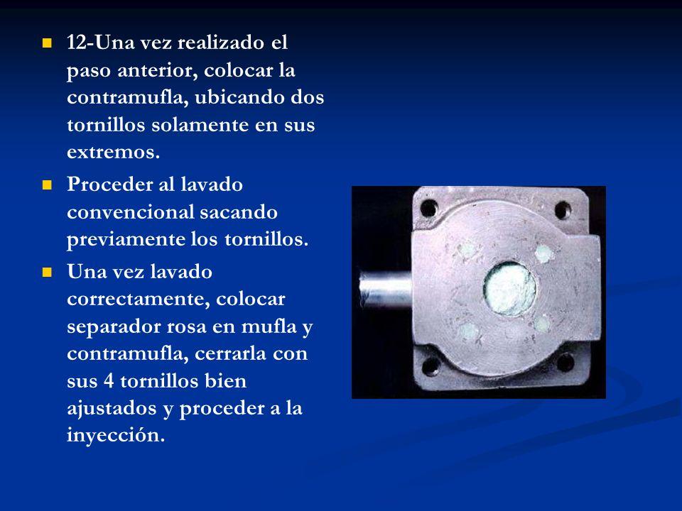 12-Una vez realizado el paso anterior, colocar la contramufla, ubicando dos tornillos solamente en sus extremos.