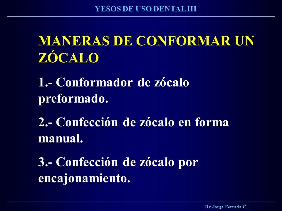 MANERAS DE CONFORMAR UN ZÓCALO