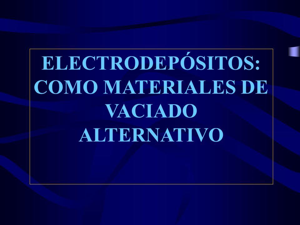 COMO MATERIALES DE VACIADO ALTERNATIVO