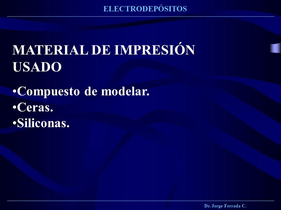 MATERIAL DE IMPRESIÓN USADO