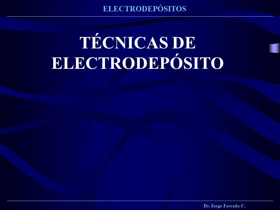 TÉCNICAS DE ELECTRODEPÓSITO