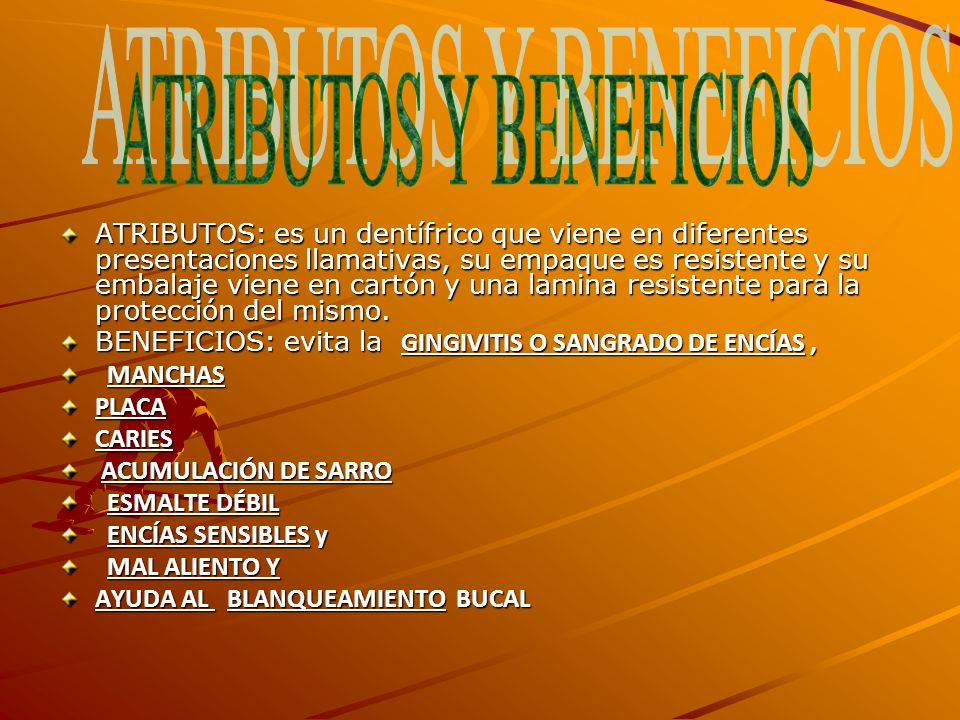 ATRIBUTOS Y BENEFICIOS
