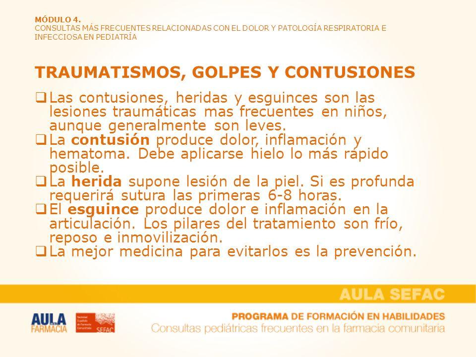 TRAUMATISMOS, GOLPES Y CONTUSIONES