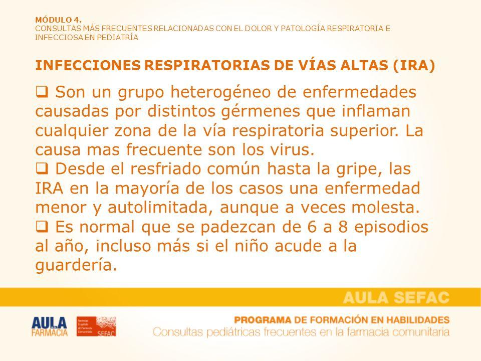 INFECCIONES RESPIRATORIAS DE VÍAS ALTAS (IRA)