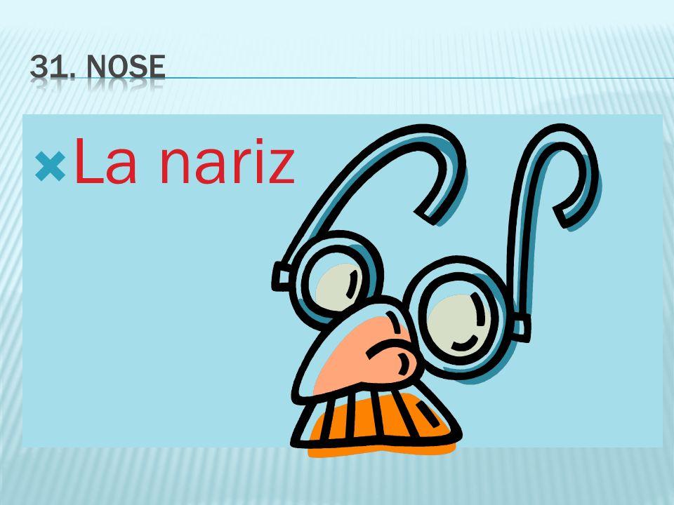 31. Nose La nariz