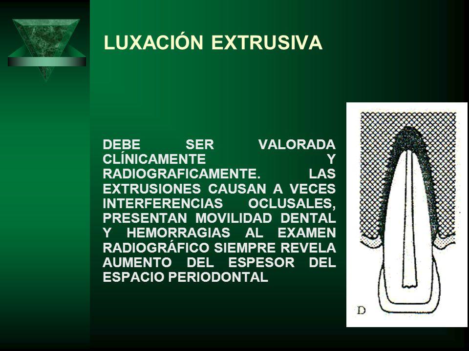 LUXACIÓN EXTRUSIVA