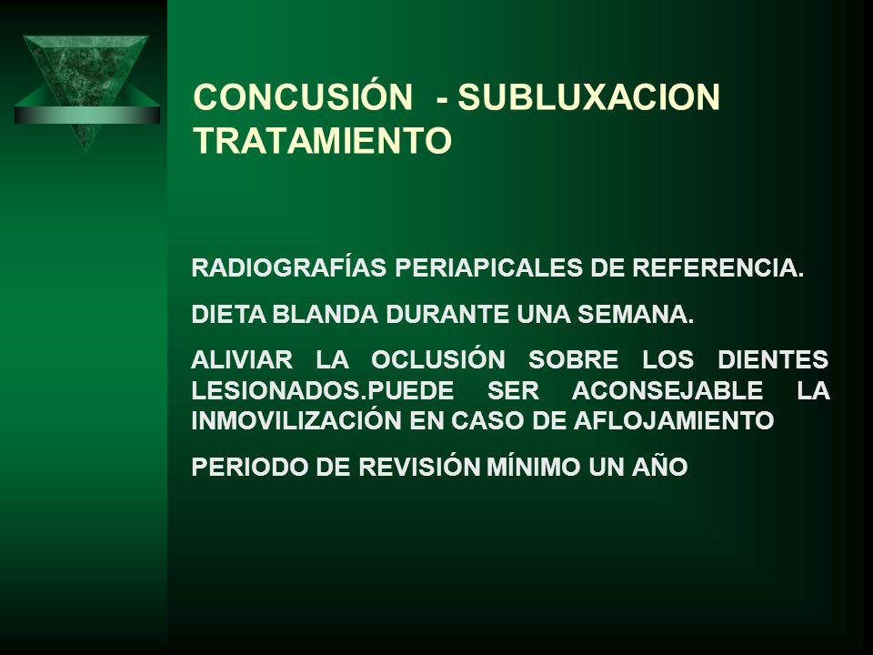 CONCUSIÓN - SUBLUXACION TRATAMIENTO