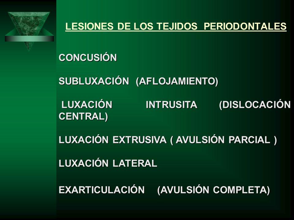 LESIONES DE LOS TEJIDOS PERIODONTALES