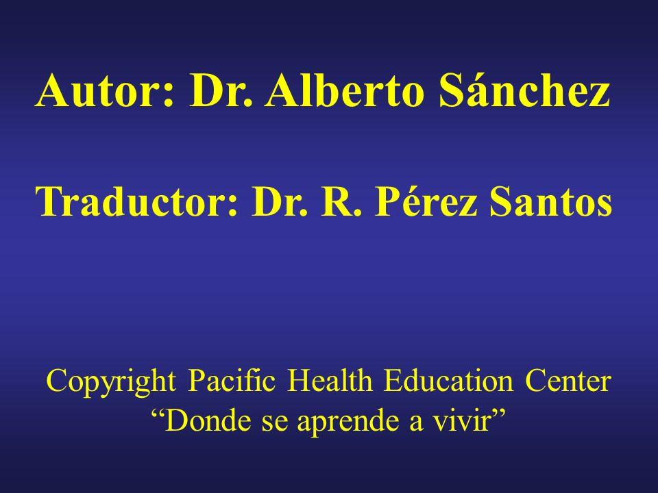 Autor: Dr. Alberto Sánchez