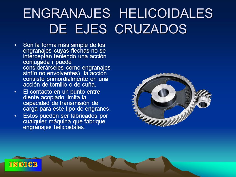 ENGRANAJES HELICOIDALES DE EJES CRUZADOS