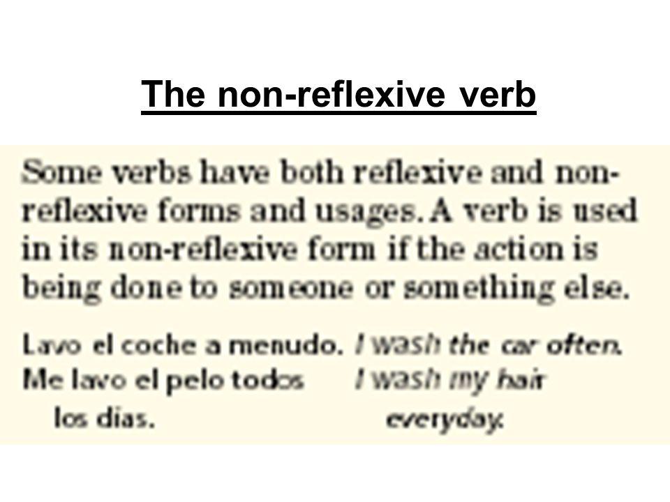 The non-reflexive verb