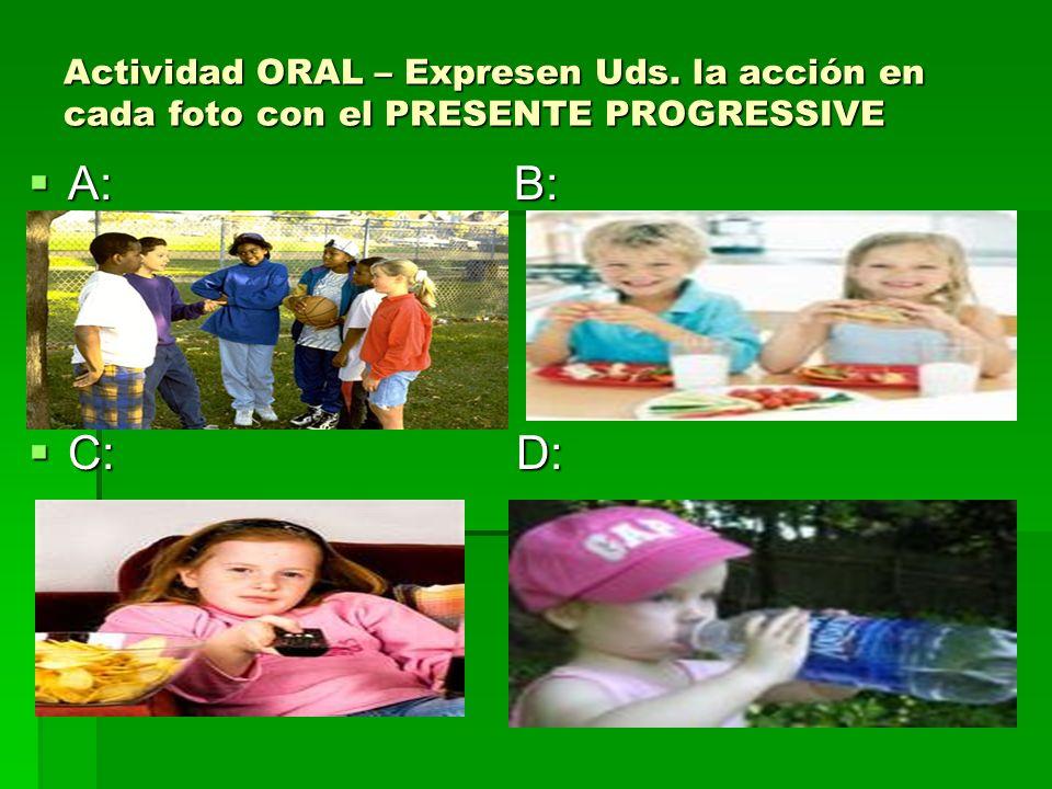 Actividad ORAL – Expresen Uds