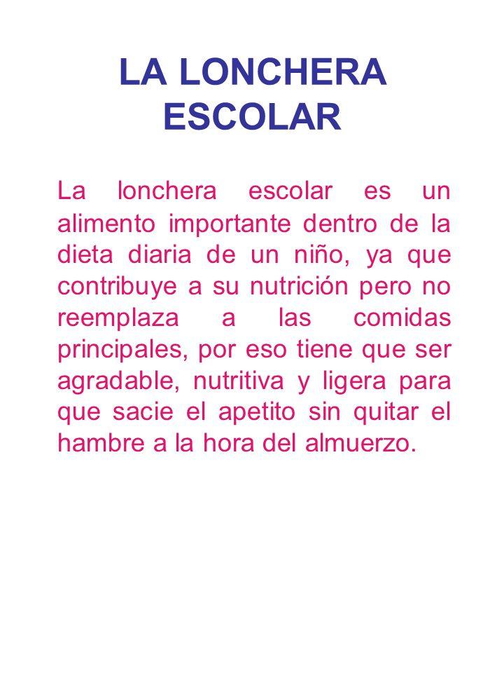 LA LONCHERA ESCOLAR