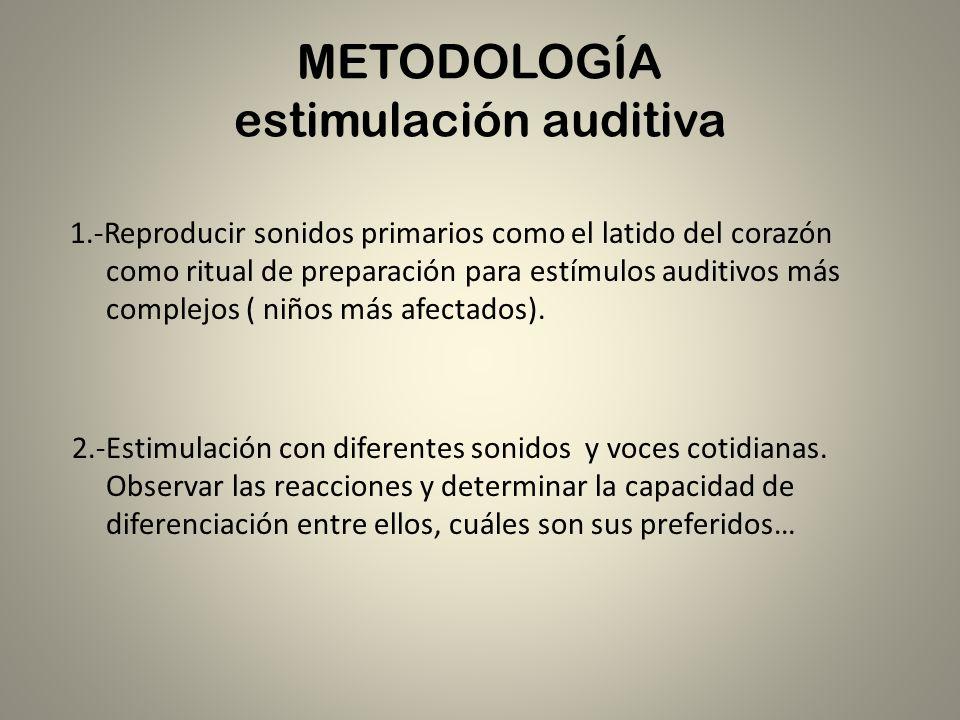METODOLOGÍA estimulación auditiva