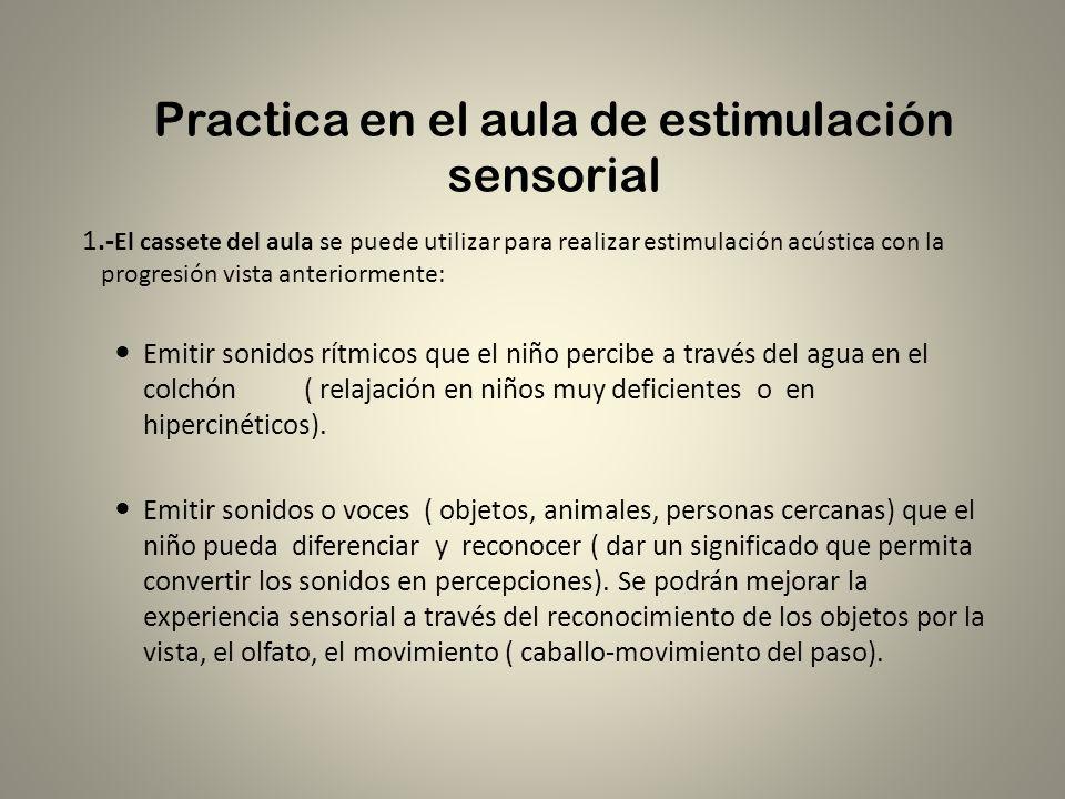 Practica en el aula de estimulación sensorial