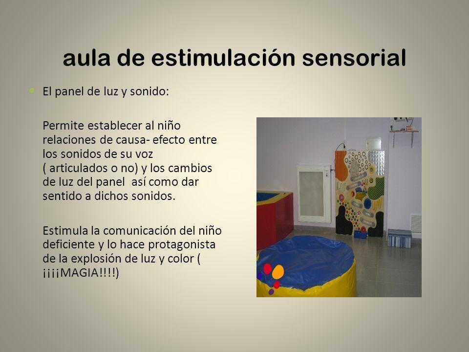 aula de estimulación sensorial