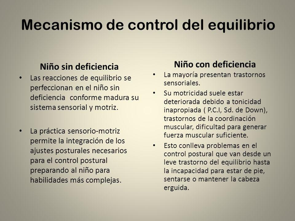 Mecanismo de control del equilibrio