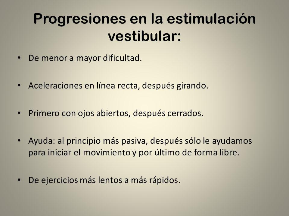 Progresiones en la estimulación vestibular: