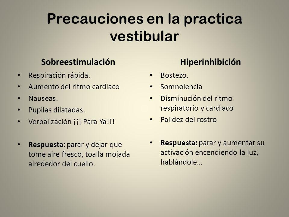 Precauciones en la practica vestibular