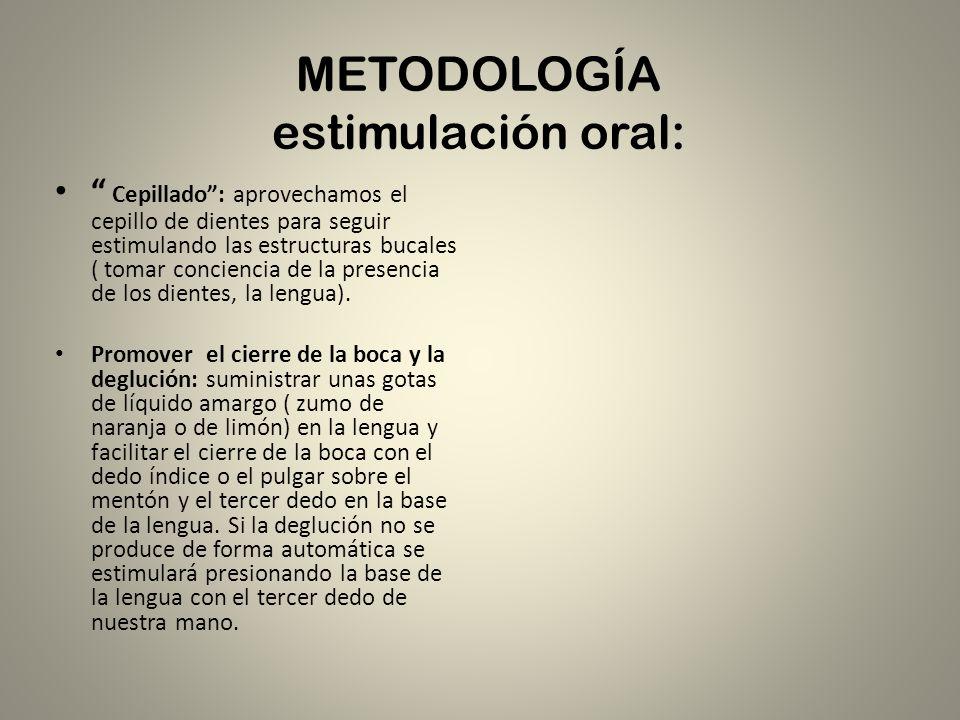 METODOLOGÍA estimulación oral: