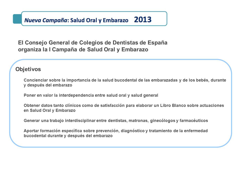 El Consejo General de Colegios de Dentistas de España organiza la I Campaña de Salud Oral y Embarazo