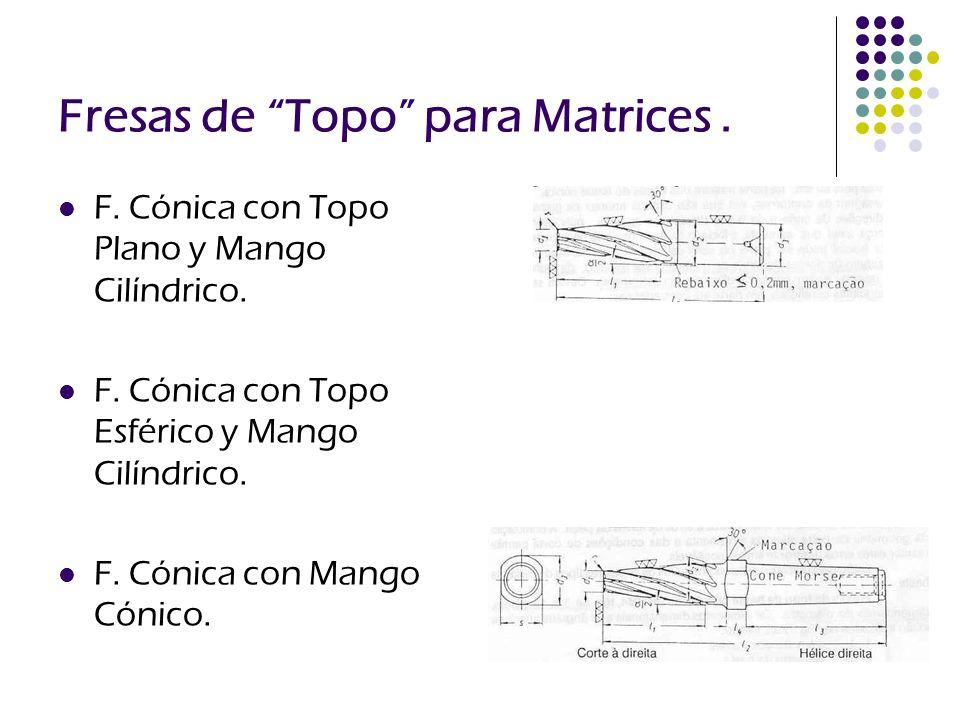 Fresas de Topo para Matrices .