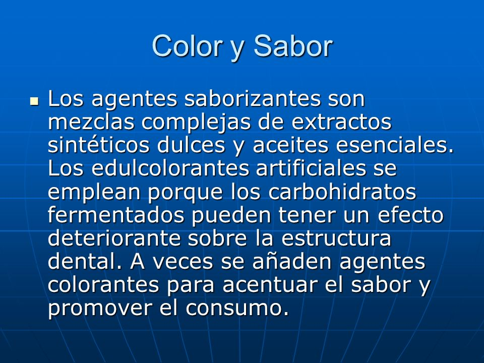 Color y Sabor