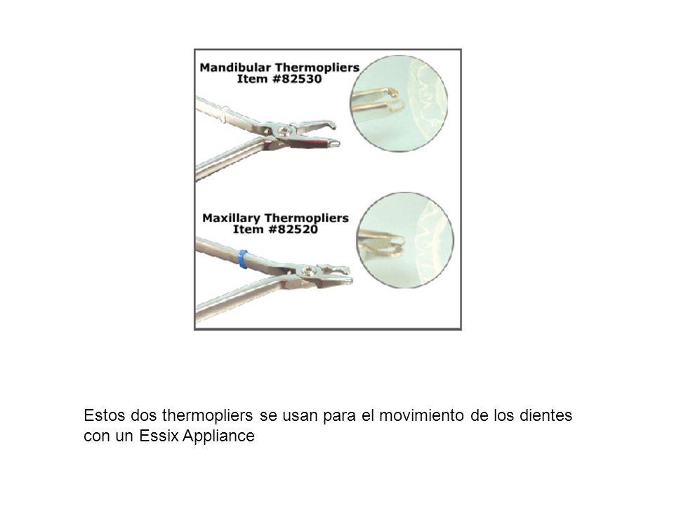 Estos dos thermopliers se usan para el movimiento de los dientes con un Essix Appliance