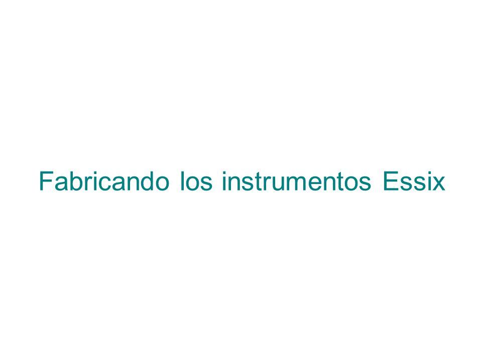 Fabricando los instrumentos Essix