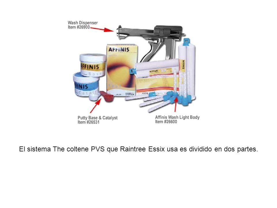 El sistema The coltene PVS que Raintree Essix usa es dividido en dos partes.