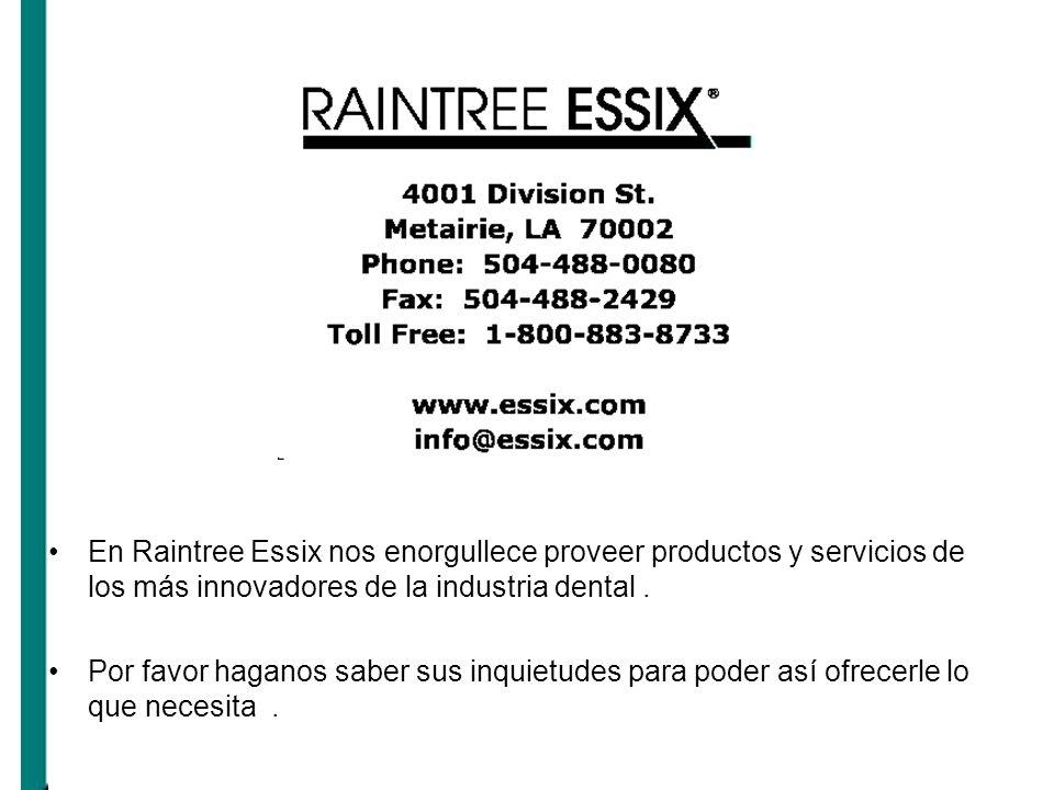 En Raintree Essix nos enorgullece proveer productos y servicios de los más innovadores de la industria dental .