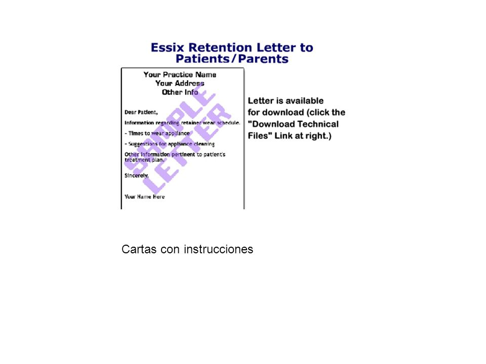 Cartas con instrucciones