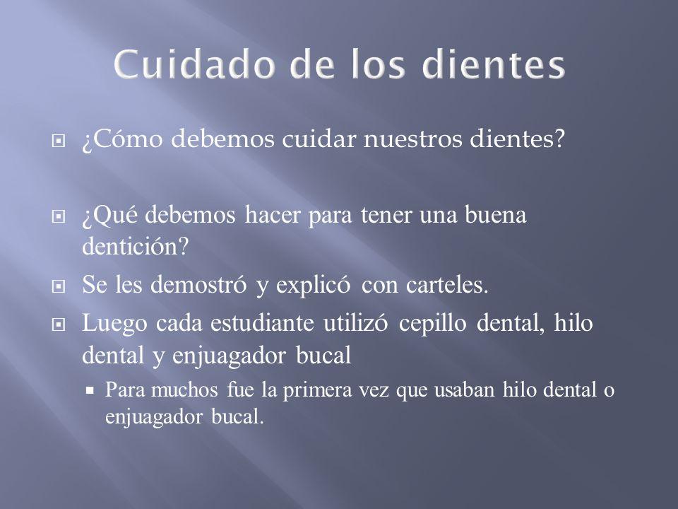 Cuidado de los dientes ¿Cómo debemos cuidar nuestros dientes