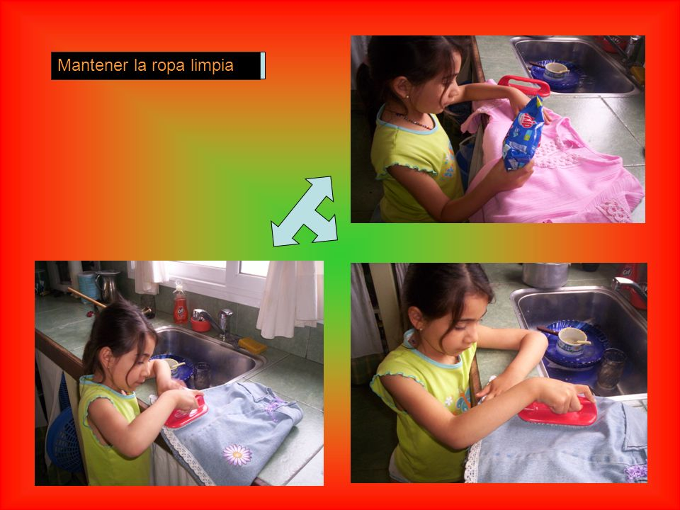 Mantener la ropa limpia