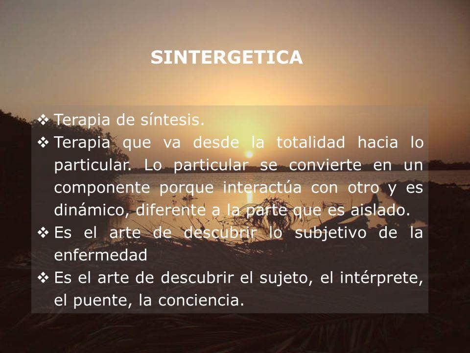 SINTERGETICA Terapia de síntesis.