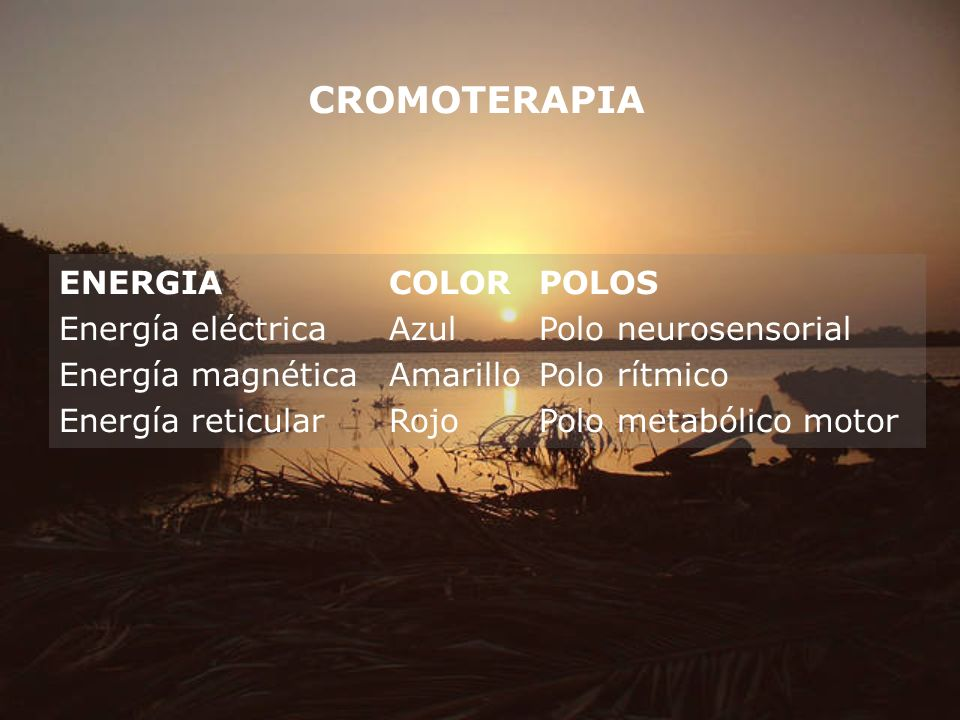 CROMOTERAPIA ENERGIA COLOR POLOS