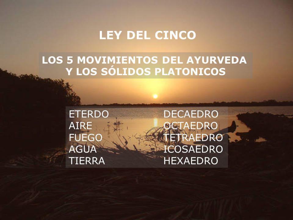 LOS 5 MOVIMIENTOS DEL AYURVEDA Y LOS SÓLIDOS PLATONICOS