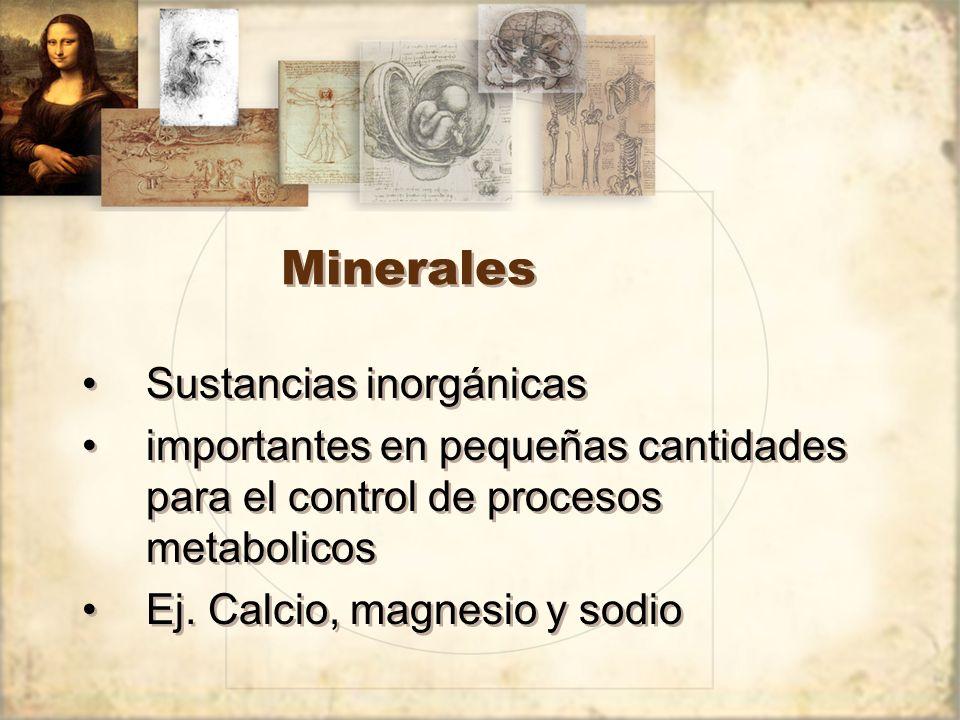 Minerales Sustancias inorgánicas