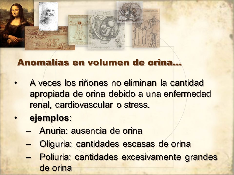 Anomalías en volumen de orina…