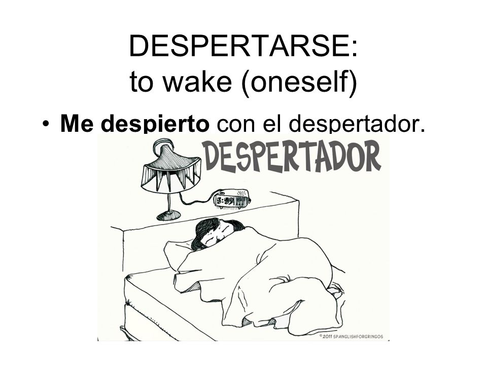 DESPERTARSE: to wake (oneself)