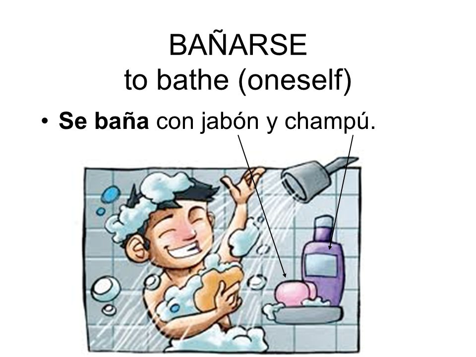 BAÑARSE to bathe (oneself)