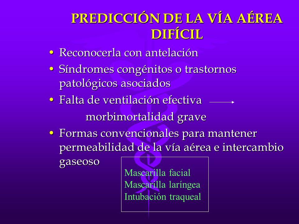 PREDICCIÓN DE LA VÍA AÉREA DIFÍCIL