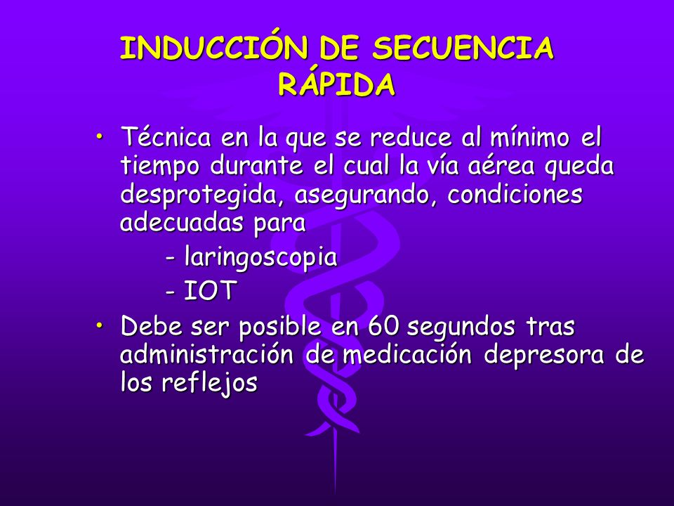 INDUCCIÓN DE SECUENCIA RÁPIDA