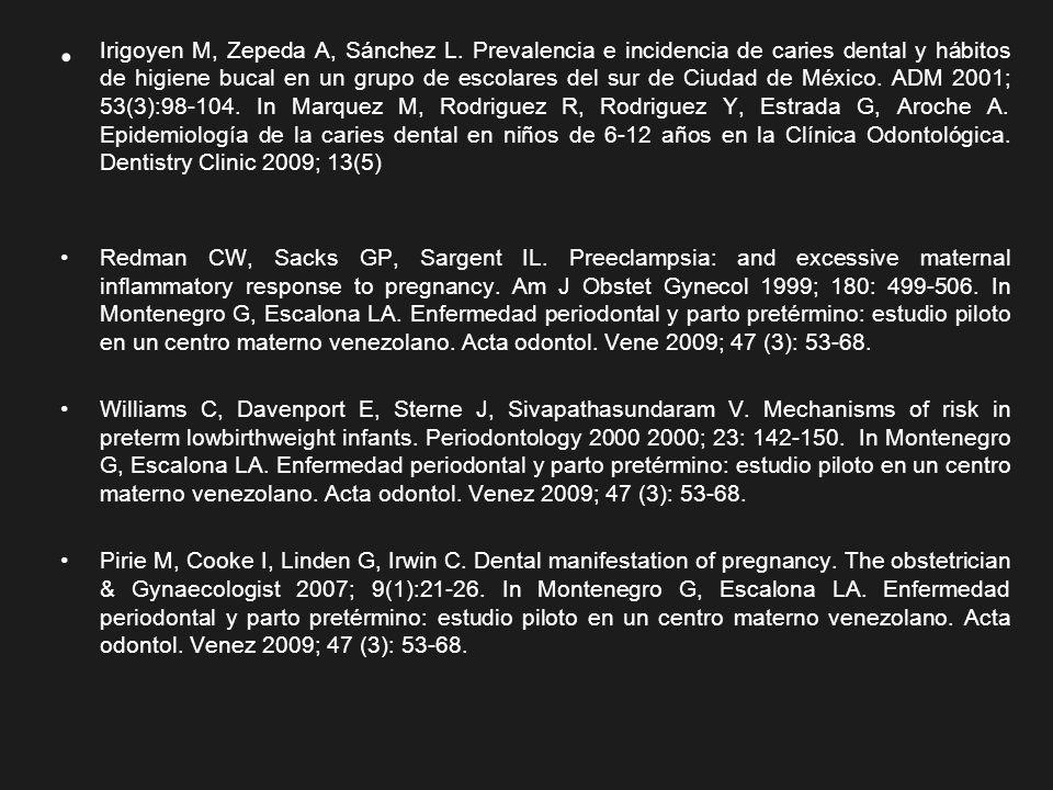 Irigoyen M, Zepeda A, Sánchez L