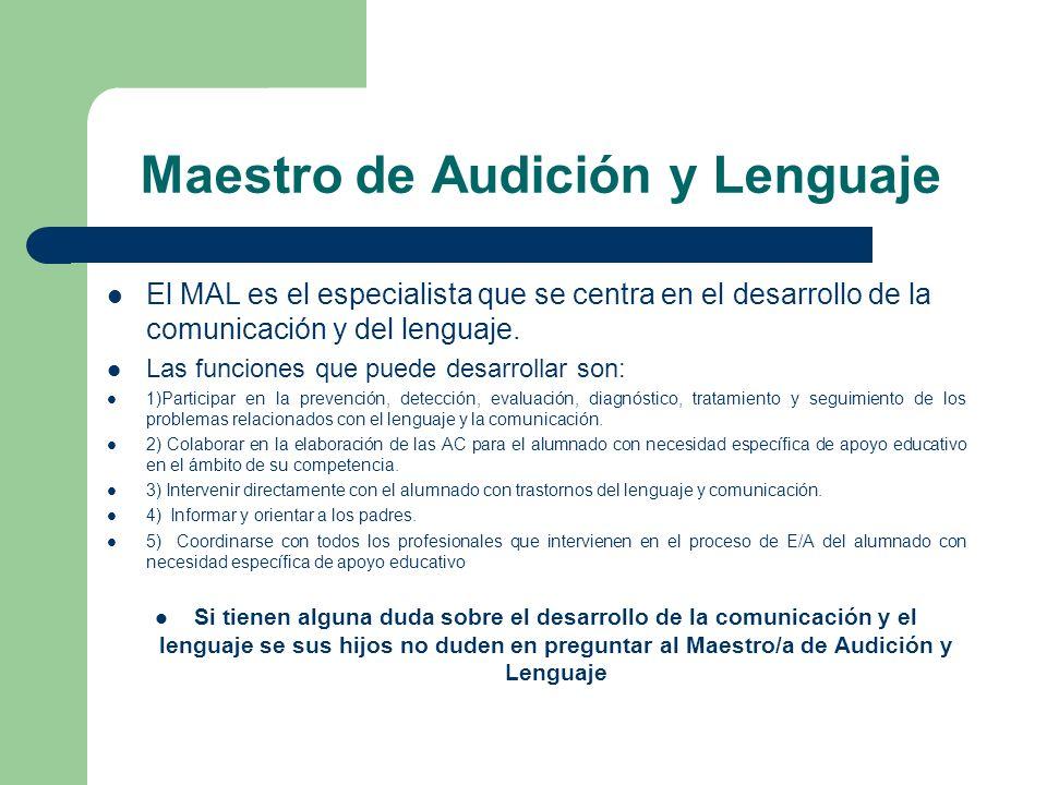 Maestro de Audición y Lenguaje
