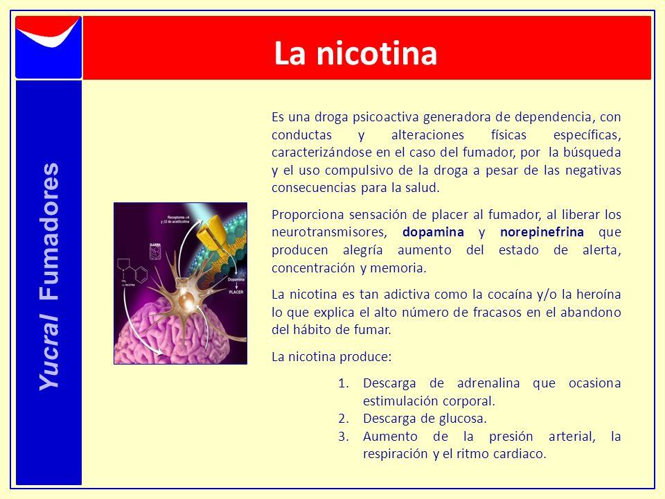 La nicotina Yucral Fumadores