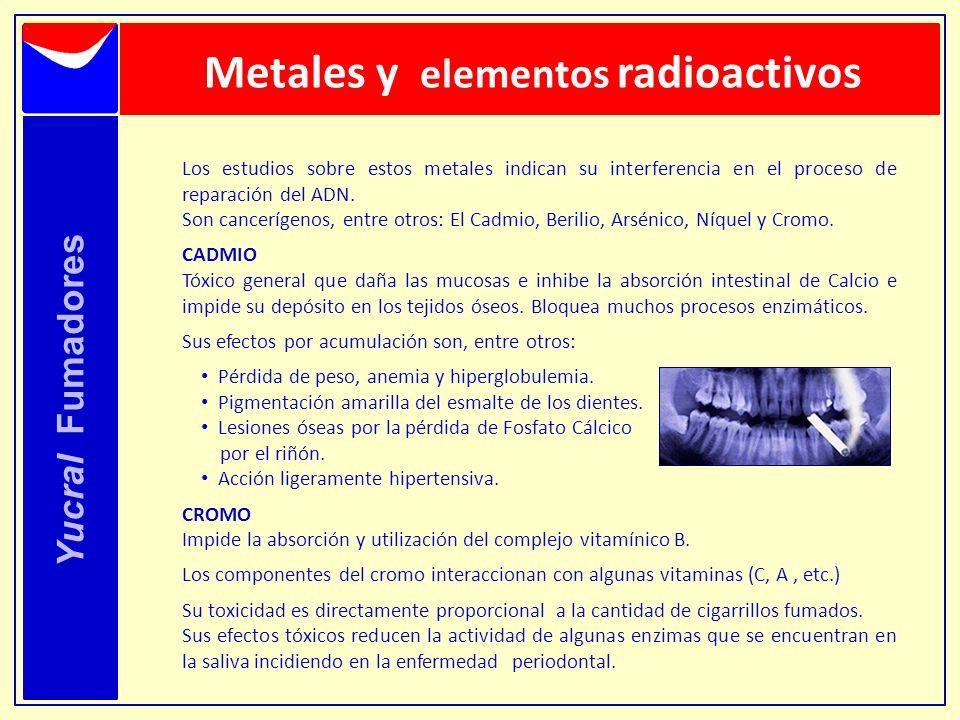 Metales y elementos radioactivos